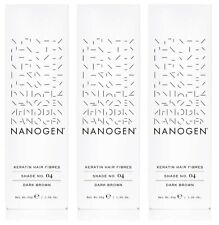 SAVER PACK - 3 X Nanogen Thickening Hair Fibres Dark Brown 30g (2 months supply)