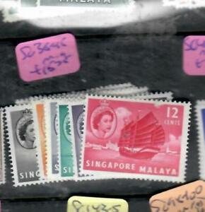 SINGAPORE  (PP1109B)  QEII   TO 12C   SG 38-45    MOG