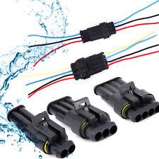 Coche Conector Impermeable Eléctrico Cable Cable Automotriz manera Enchufe Kit 2 3 de 4 Pines