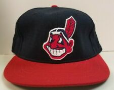 vintage CLEVELAND INDIANS Fitted Hat NEW ERA - PRO MODEL 7 1/4 blue authentic
