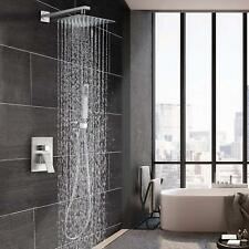 "Brushed Nickel 8""Bathroom Luxury Rain Shower Combo Set Wall Mounted Shower Head"