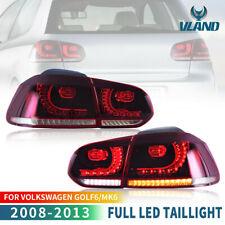 VLAND LED fanali posteriori Per 2008-2013 VW Golf 6 MK6 Con Sequenziale E-mark