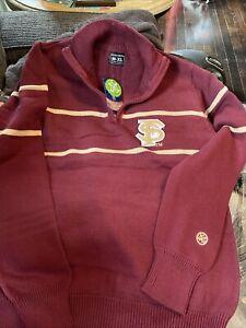 New Florida State FSU Vintage Look Quarter Zip Alma Mater Sweater Size Men's XL