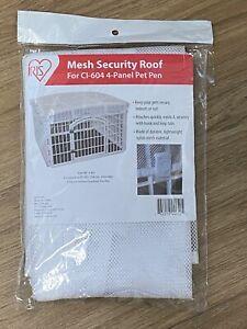Iris White Nylon Mesh Security Roof for Indoor/Outdoor 4-Panel Pet Pen