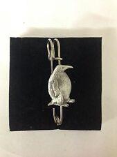 """Penguin R9 Pewter Emblem Kilt Pin Scarf or Brooch 3"""" 7.5 cm"""