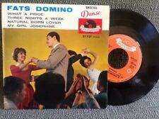 French EP FATS DOMINO- What A Price -POLYDOR 27727 + Languette