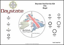 Daystate Regal Full Service Seal Kit 24 Seals Including .177 & .22 Probe Seals