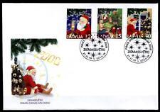 Weihnachten. Kinder, Weihnachtsmann. FDC. Lettland 1999