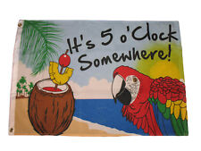 It's 5 o' Clock Somewhere Flag Party Banner Bar Sign Happy Hour Pennant 2 x 3 Ft
