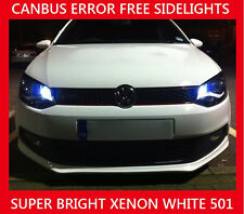 VW Passat B6 B7 3C LED Parking Side Light Bulbs Error Free Canbus White W5W 501