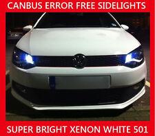 VW Passat B6 B7 3C LED bombillas de luz lateral de aparcamiento libre de error Canbus Blanco W5W 501