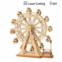 Ferris Wheel 3D Laser Cut Wooden Model Kit 120 Pieces Puzzle DIY Craft Fun Fair