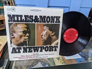 Miles & Monk At Newport Vinyl Record Vintage