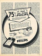PUBLICITE ADVERTISING 114  1956  PHILIPS  rasoirs éléctriques