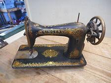 L201- Antique 1910 Model 15 Singer Treadle Sewing Machine Head QUEEN VICTORIA DE