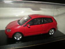 1:43 Minichamps VW POLO ROUGE/RED neuf dans sa boîte