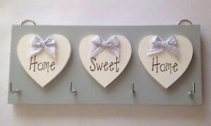 Key Holder Home Sweet Home, Grey