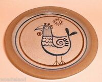 Stoneware Plate Pottery Rooster 7.5 inches Gray  Dinnerware