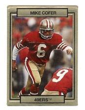Mike cofer 49er del 1990 TRADING CARD # 241 con effetto 3D