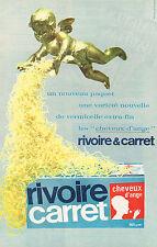 PUBLICITE  1966   RIVOIRE & CARRET   pates  cheveux d'ange