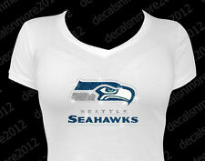 NFL:  Seattle Seahawks Bling - Iron-on Glitter Vinyl & Rhinestone Transfer
