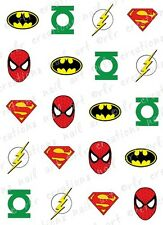 20- Nail Decals * COMIC SUPERHERO ASST* Water Slide Nail Art Decals COMIC BOOK