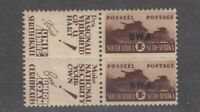 South Africa 1942 1/- War Effort Pair With Adverts SG104 MNH JK1681