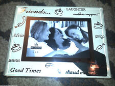 FRIENDS 4 x 6 PICTURE PHOTO FRAME Glass Silver MALDEN INTERNATIONAL Tabletop NEW