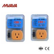 2 Pack 2400 WATTS Home Appliance Surge Protector Voltage Brownout Outlet US Plug