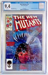 The New Mutants # 18 CGC 9.4 1984 - 1st App. New Warlock - Chris Claremont Story