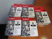 Lot of 5 x New GENUINE Canon 6  BCI-6 Black Cratridge  Inks