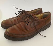 Mens Salamander Casual Oxfords Walking Shoes Brown Leather Dress sz 10 Med GUC