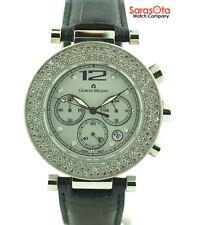 Giorgio Milano GM604 Crystal Bezel Steel Leather Band Chronograph Women's Watch