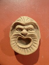 Clay Brick Wall Plaque Hanging Poseidon Greek Mask Roman Prometheus Zeus 3D Face