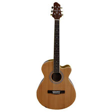 More details for woodstock natural cutaway electro acoustic guitar whw40ce203