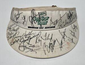 Vtg PGA HOF Jack Nicklaus Tom Kite Ray Floyd & More Signed Autographed Visor