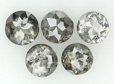 Natural Loose Diamond Grey Color Round Rose Cut I1 Clarity 5 pcs 1.41 Ct N5678