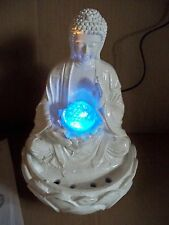 Tischbrunnen Buddha LED Beleuchteter Zimmerbrunnen Feng Shui Höhe ca. 28 cm