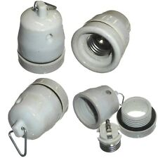 Hanging Porcelain Lamp Holder with Gasket E27 Screw for Heat Lamps - Vivarium