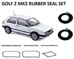 Volkswagen Golf MK2 GTI Coupe Door, Windows Trunk Rubber Seals Gaskets 1983-1991