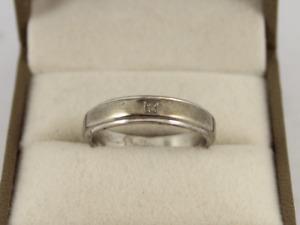 Diamond Band Sterling Silver Ladies Ring Stunning Size Q 1/2 925 3.9g Jc72