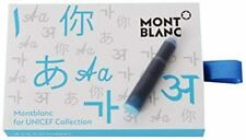 Montblanc Unicef Collection Turquoise Fountain Pen Ink 8 Cartridges