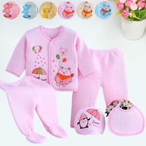 Winter Baby Boy Girl Newborn Infant Clothing Animal Pattern Gift 5Pcs Set Outfit