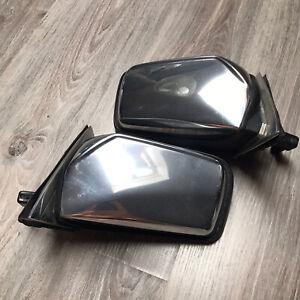 Mercedes w123 Manual Right + Left side mirror Chrome Sedan Wagon