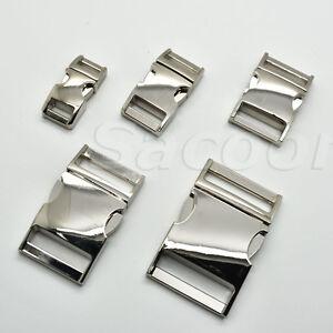 Side Release Curved Metal Buckle for Bag DIY Paracord Buckles For Bracelet
