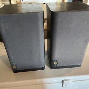 Pair Of VINTAGE BLACK JBL LX300 2-WAY BOOKSHELF SPEAKERS MADE IN USA - Tested