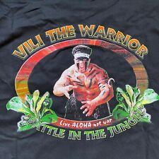 VTG VILI THE WARRIOR Hula Supply T Shirt Hawaii Rainbows UH Mascot Mens, L