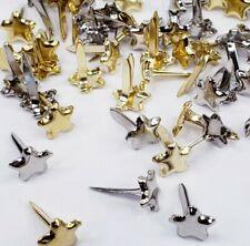 Mini Star Brads Gold Silver 50 Stars Paper Art Cards Junk Journal Embellishments