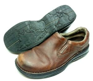 Merrell World Passport Redwood Mens Leather Shoes Size 10.5 Brown Slip On Loafer