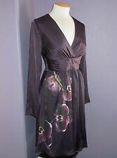 NWoT Altuzarra for Target Purple Satin Orchid Print Surplice Faux Wrap Dress 8